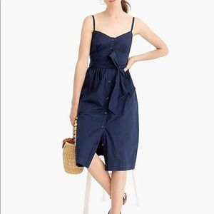 J Crew Classic Button Front Sundress in Poplin